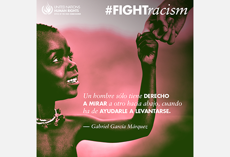Gabriel Garcia Marquez Fight Racism Visual
