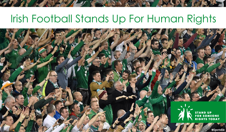 Irish football stands up for human rights