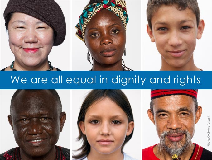 We are all equal in dignity and rights